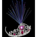 Light Up Fibre Optic Tiara, Pink Jewels