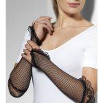 Fingerless Fishnet Gloves Black
