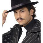 Gangster Hat Black Velour