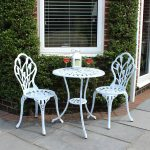 3 Piece Tulip Cast Aluminium Patio Bistro Set Table and 2 Chairs